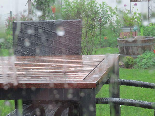 Oh yeah… es regnet…