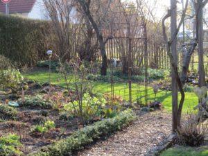der hintere Gartenteil